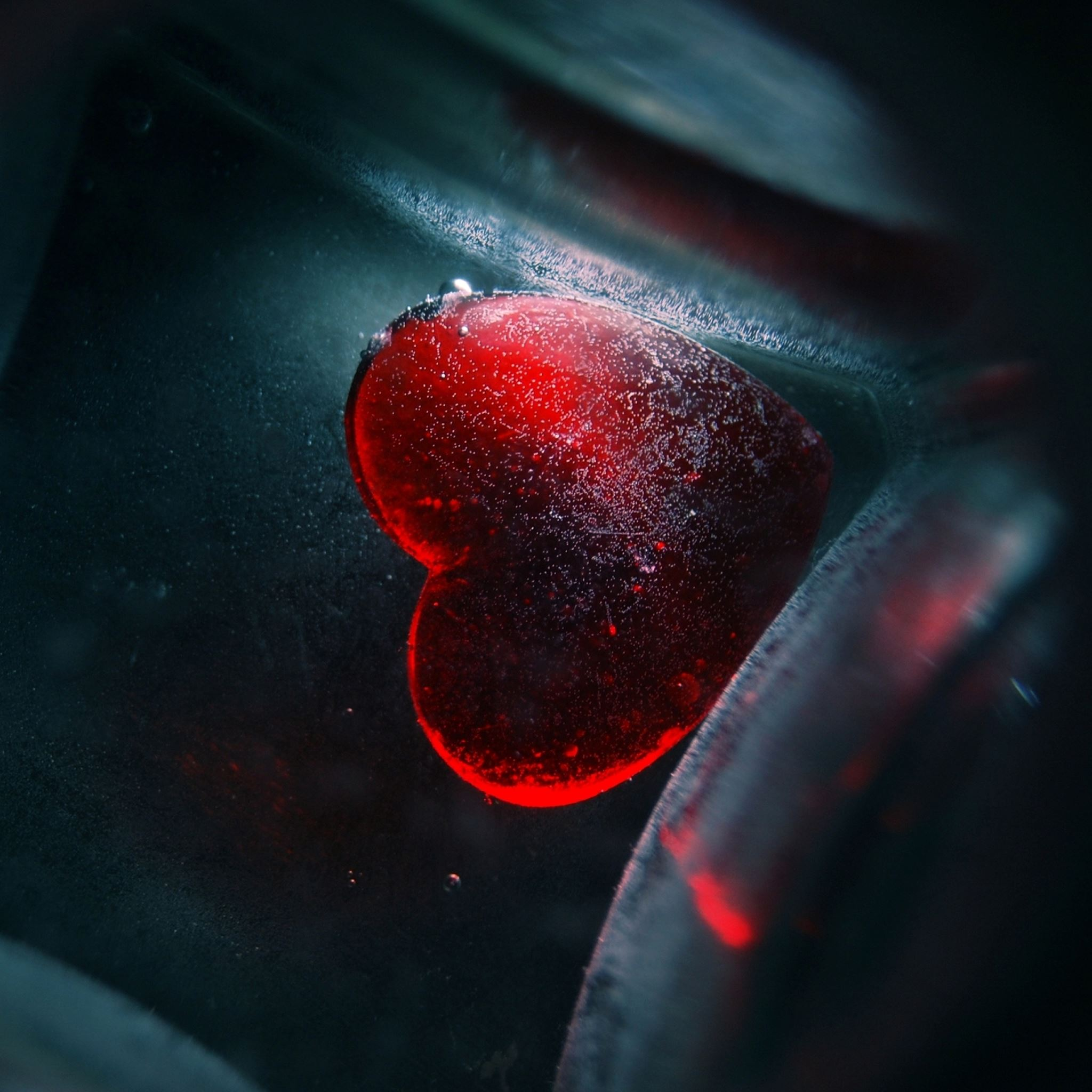 Red Heart Underwater iPad Air wallpaper