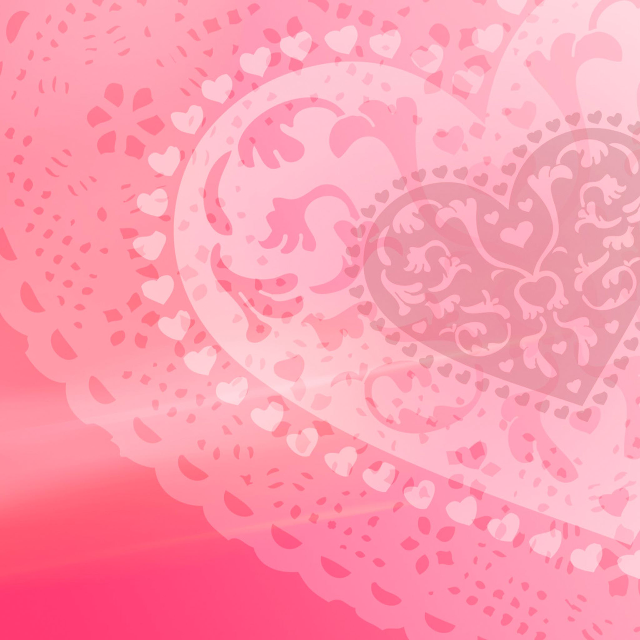 Pink Heart iPad Air wallpaper