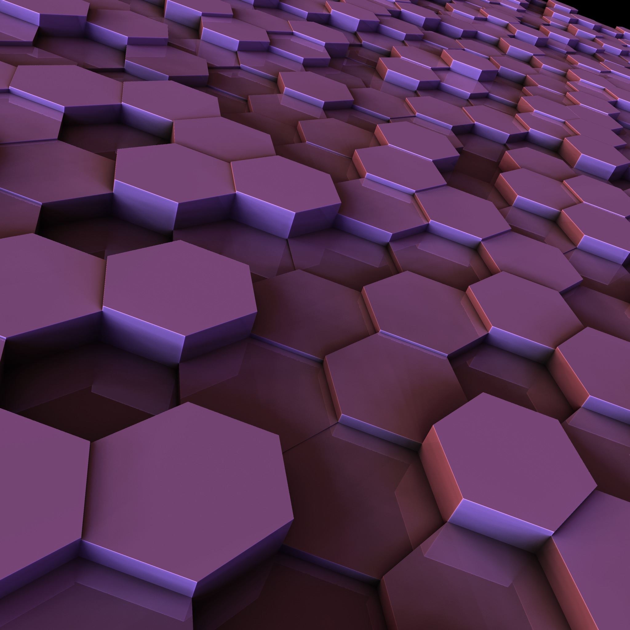 3D Hexagon iPad Air wallpaper