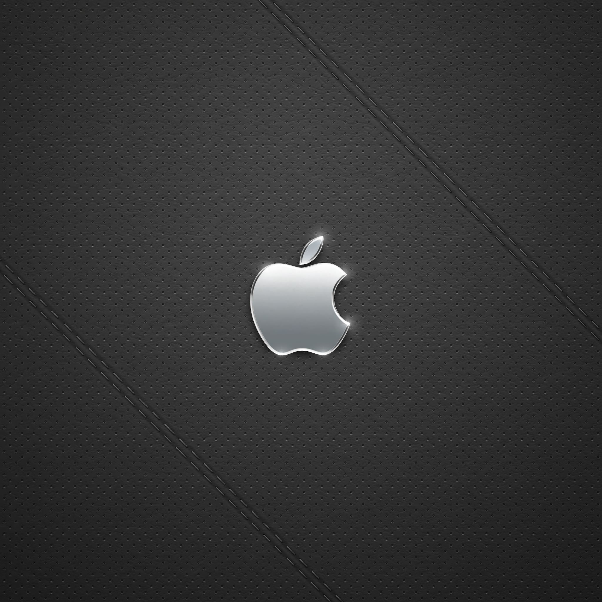 Black Leather Logo iPad Air wallpaper