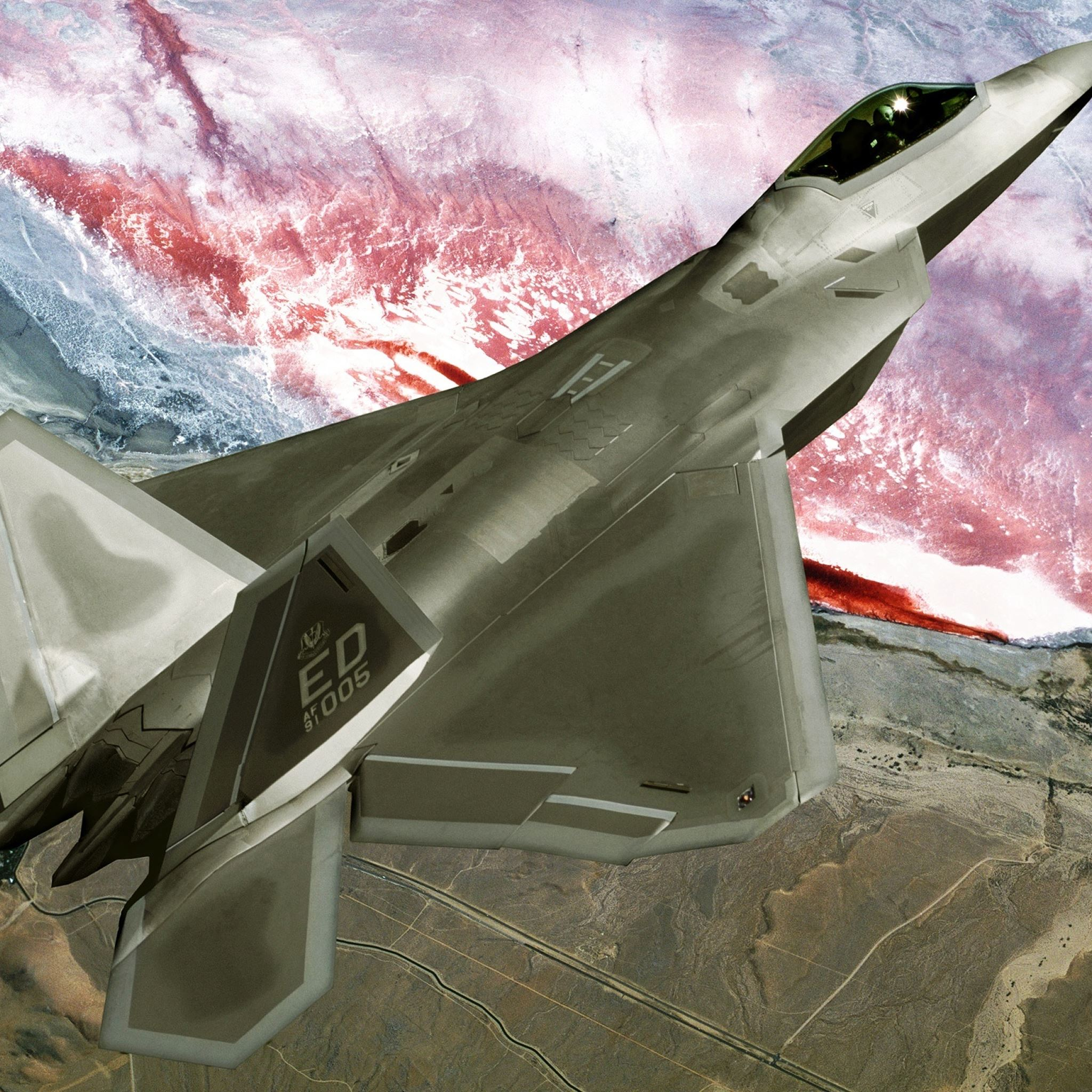 F22 Raptor iPad Air wallpaper