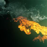 Fire and Smoke iPad wallpaper