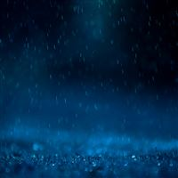 Awesome Blue Rain iPad wallpaper