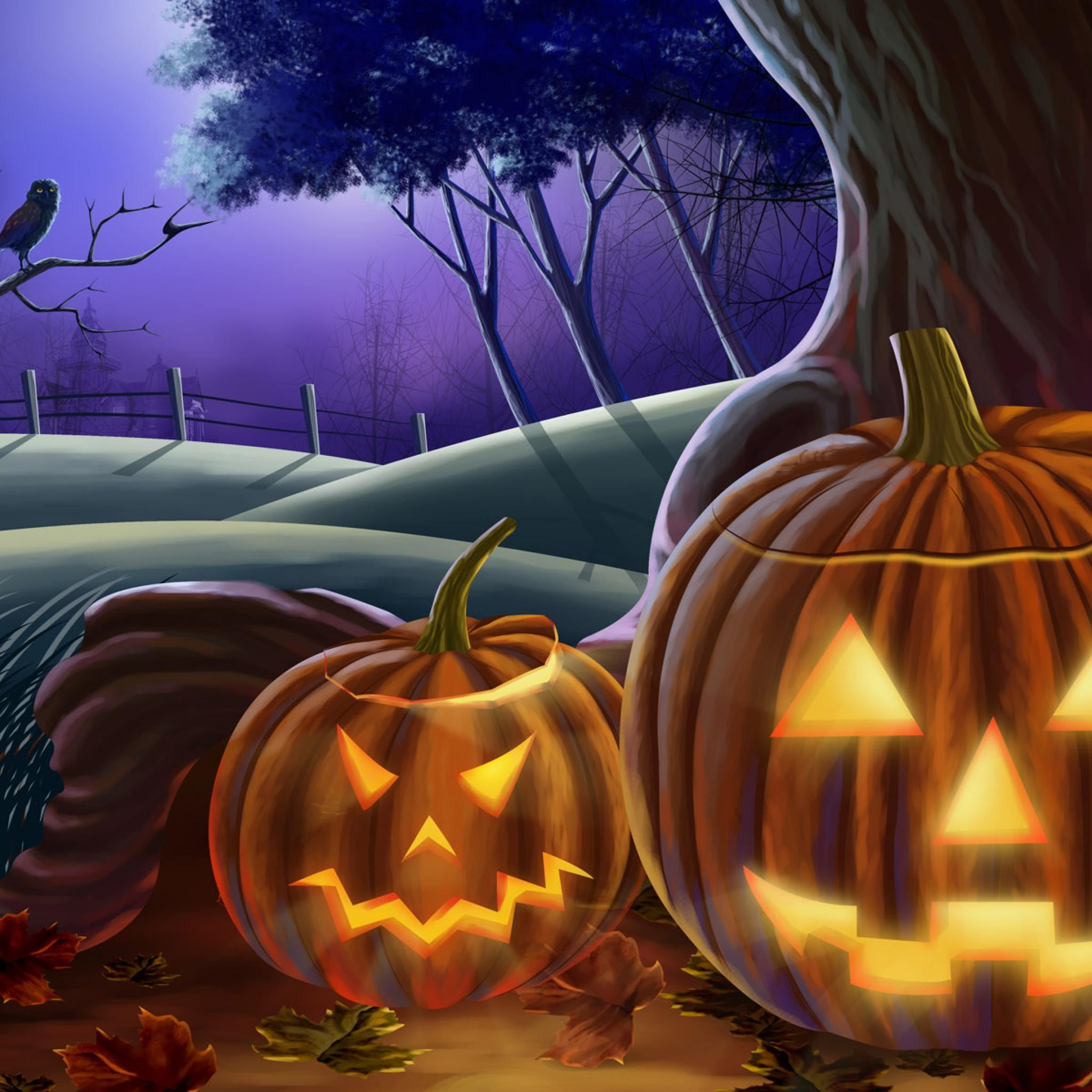 Halloween Pumpkin IPad Air Wallpapers Free Download