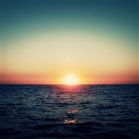 Ocean Sunset iPad Air wallpaper