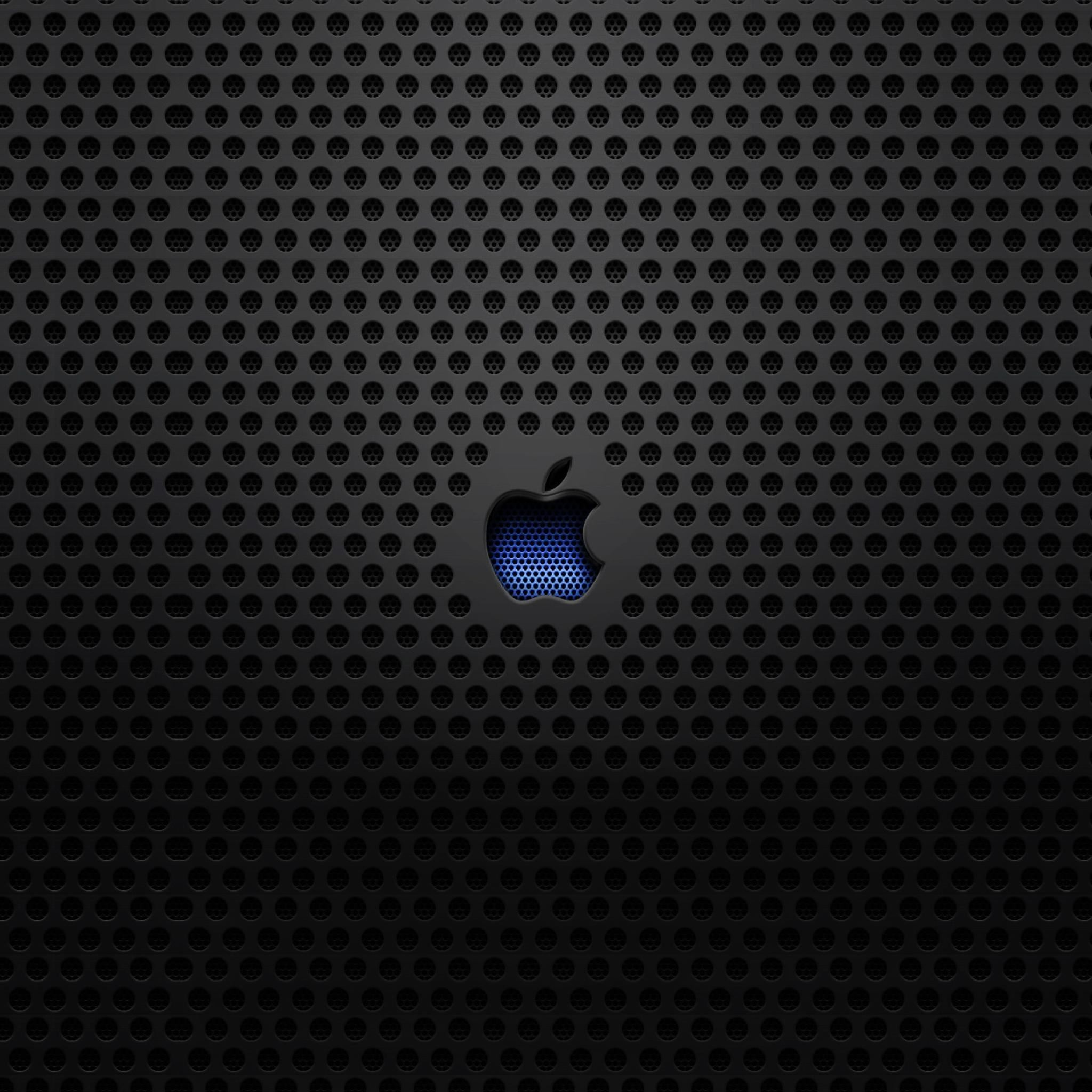 Steel apple iPad Air wallpaper