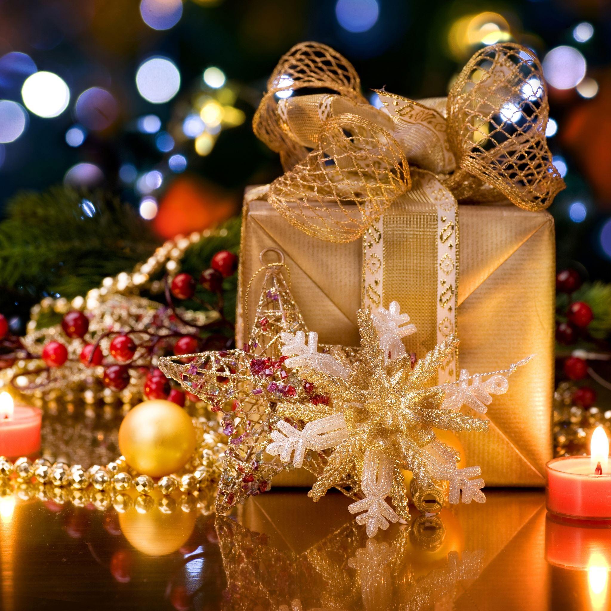 Christmas Gift Box Ipad Air Wallpapers Free Download