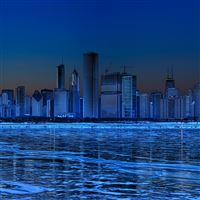Chicago skyline iPad wallpaper