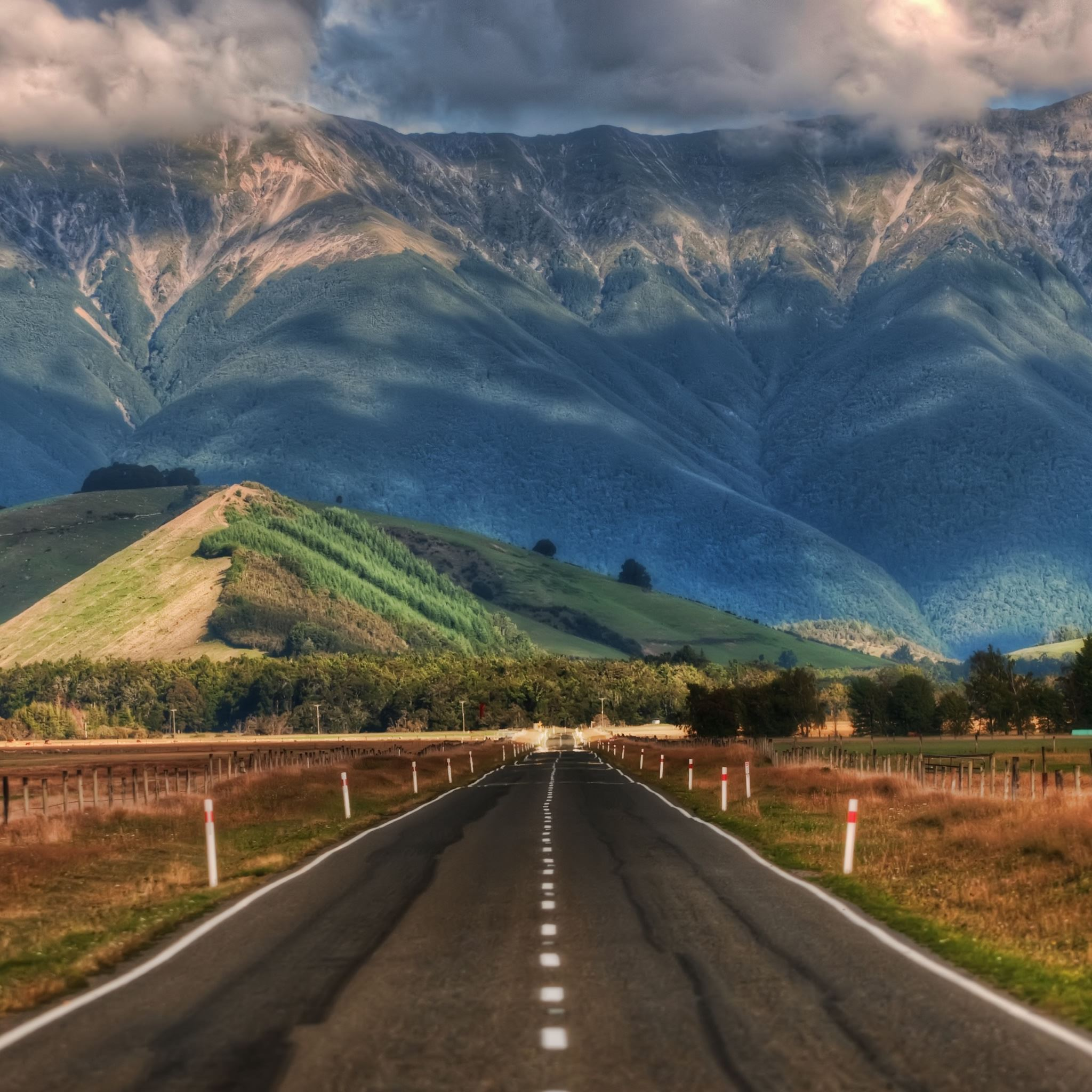 Computer Wallpaper Nz: Road In New Zealand IPad Air Wallpaper Download