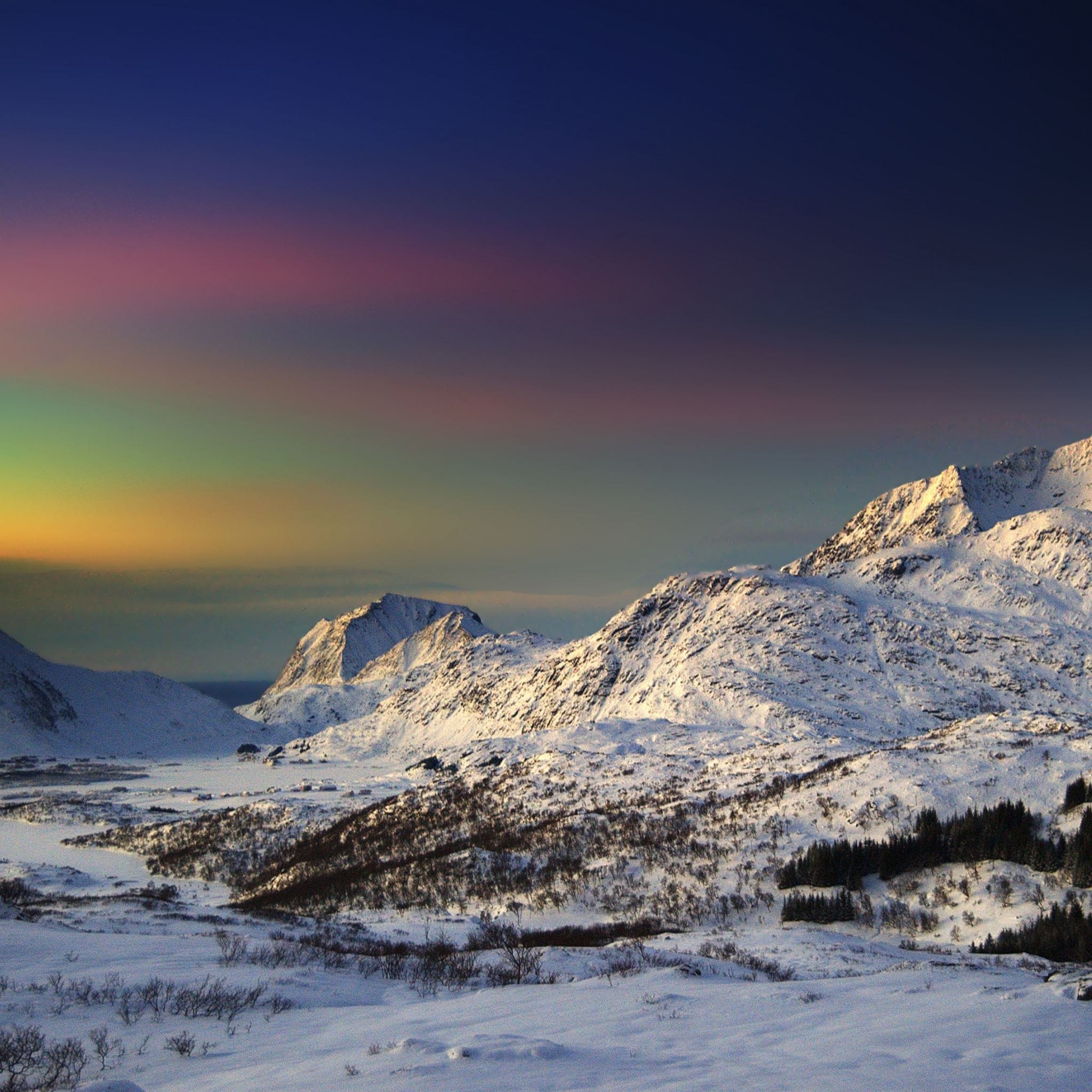Winter Morning In The Mountains Ipad Air Wallpapers Free Download