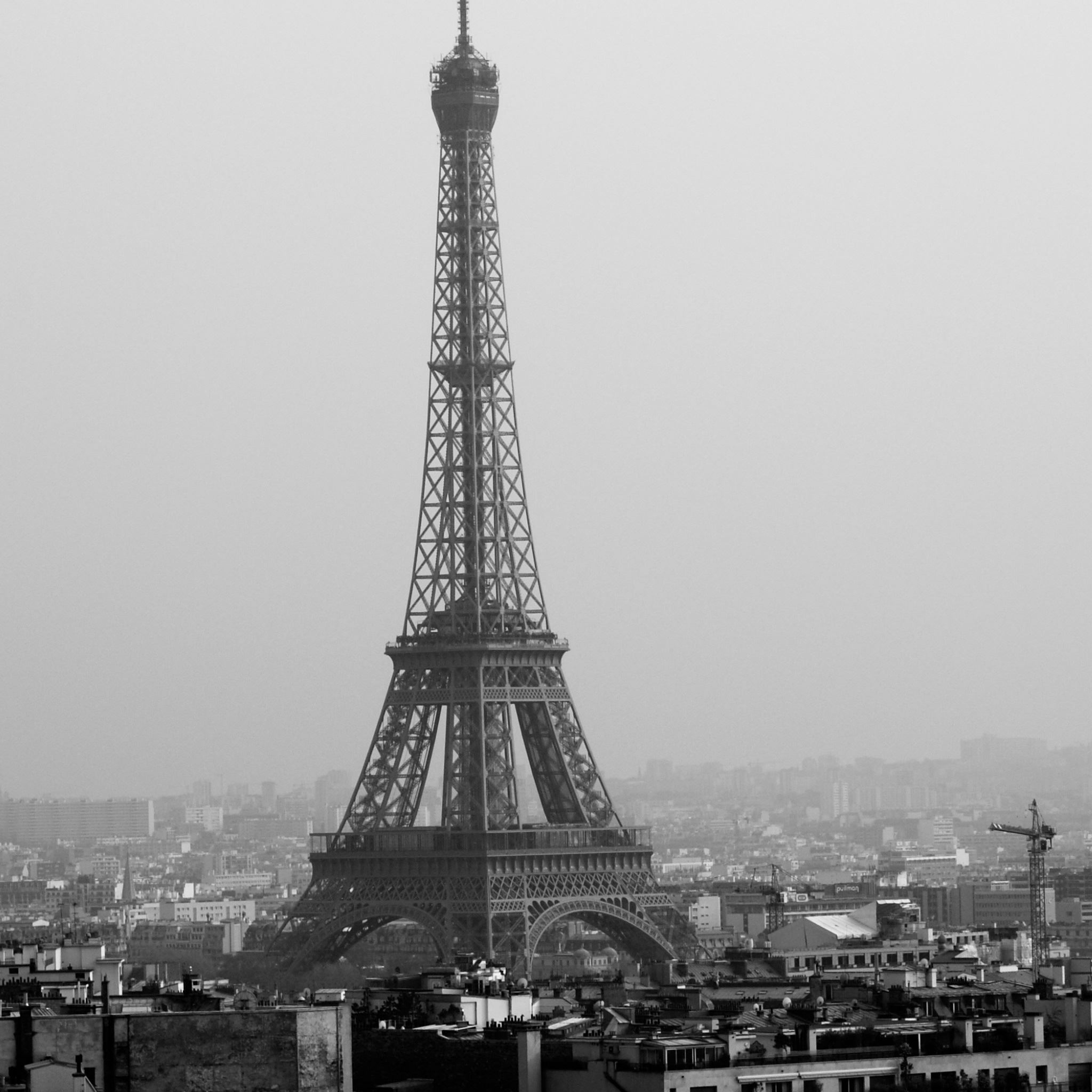 Tower Eiffel Black And White Ipad Air Wallpapers Free Download