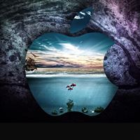 Apple under water iPad Air wallpaper