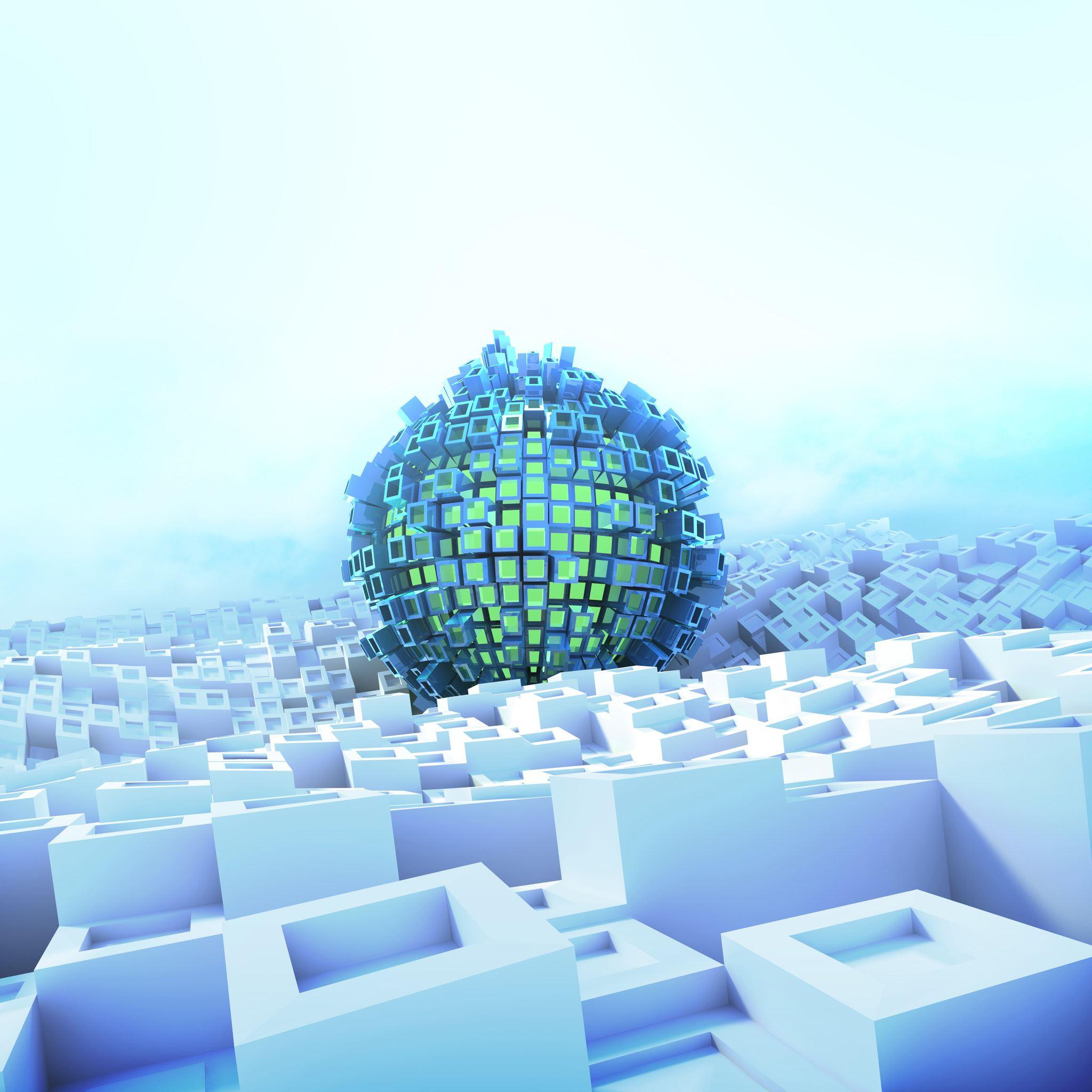 3D Abstract Ball IPad Air Wallpapers Free Download