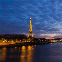 Eiffel Tower Sunset iPad Air wallpaper