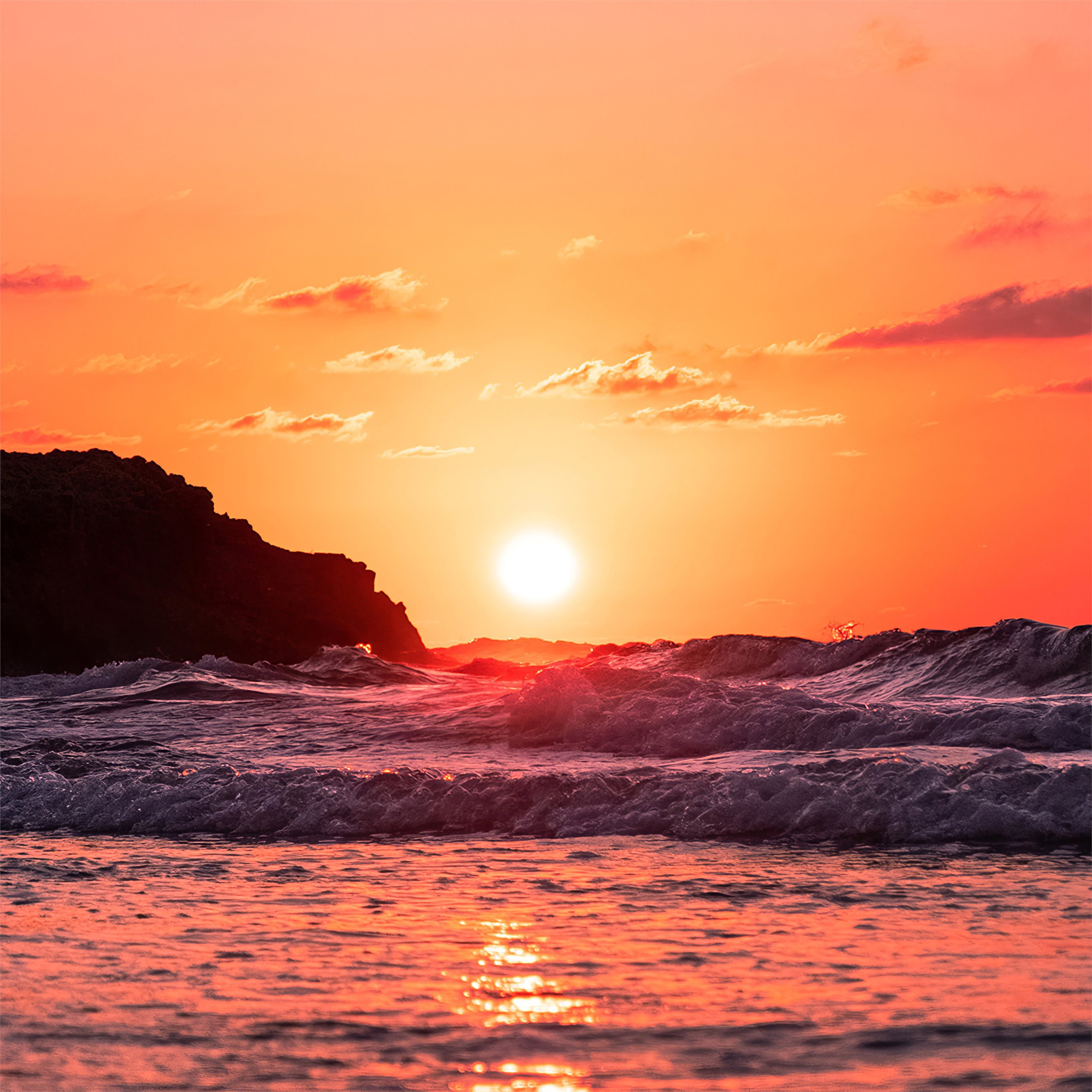 Waves Ocean Sunset 4k Ipad Air Wallpapers Free Download Free for commercial use no attribution required high quality images. waves ocean sunset 4k ipad air