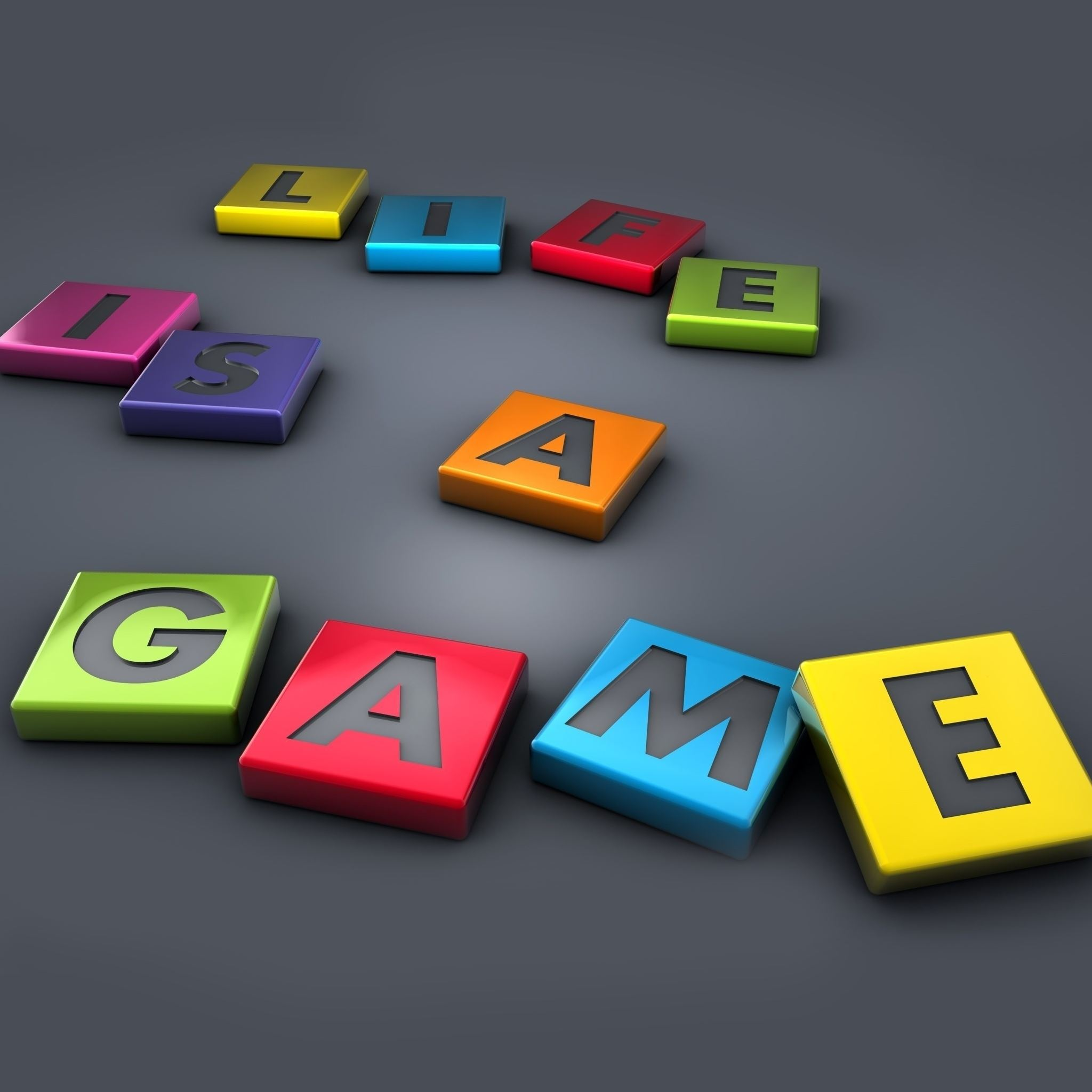 Life is a Game iPad Air wallpaper