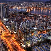 Seoul At Night South Korea iPad wallpaper