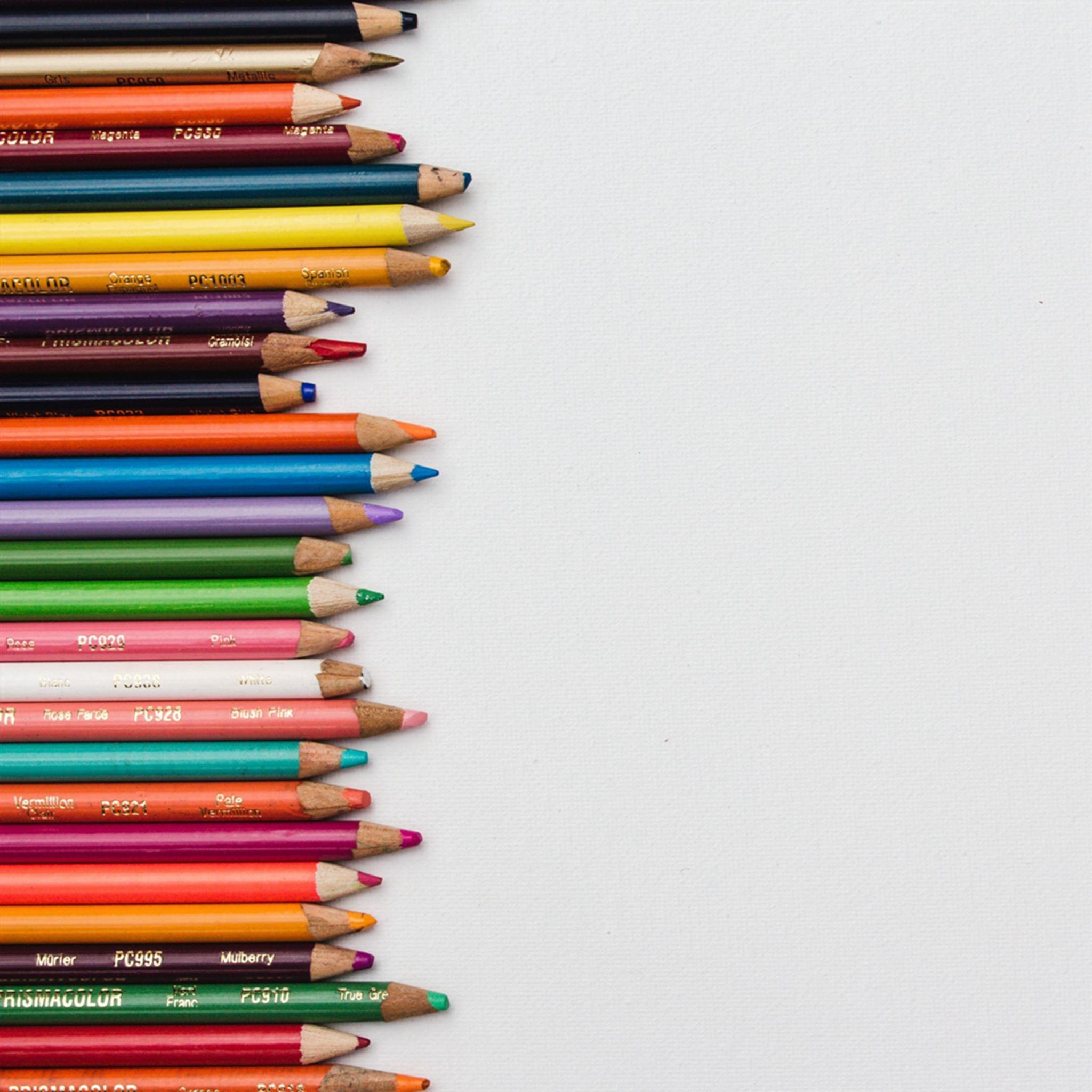 Colored Pencils Set Sharpened iPad Pro wallpaper