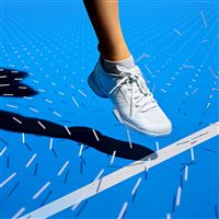 Tennis court blue line foot pattern background iPad Pro wallpaper
