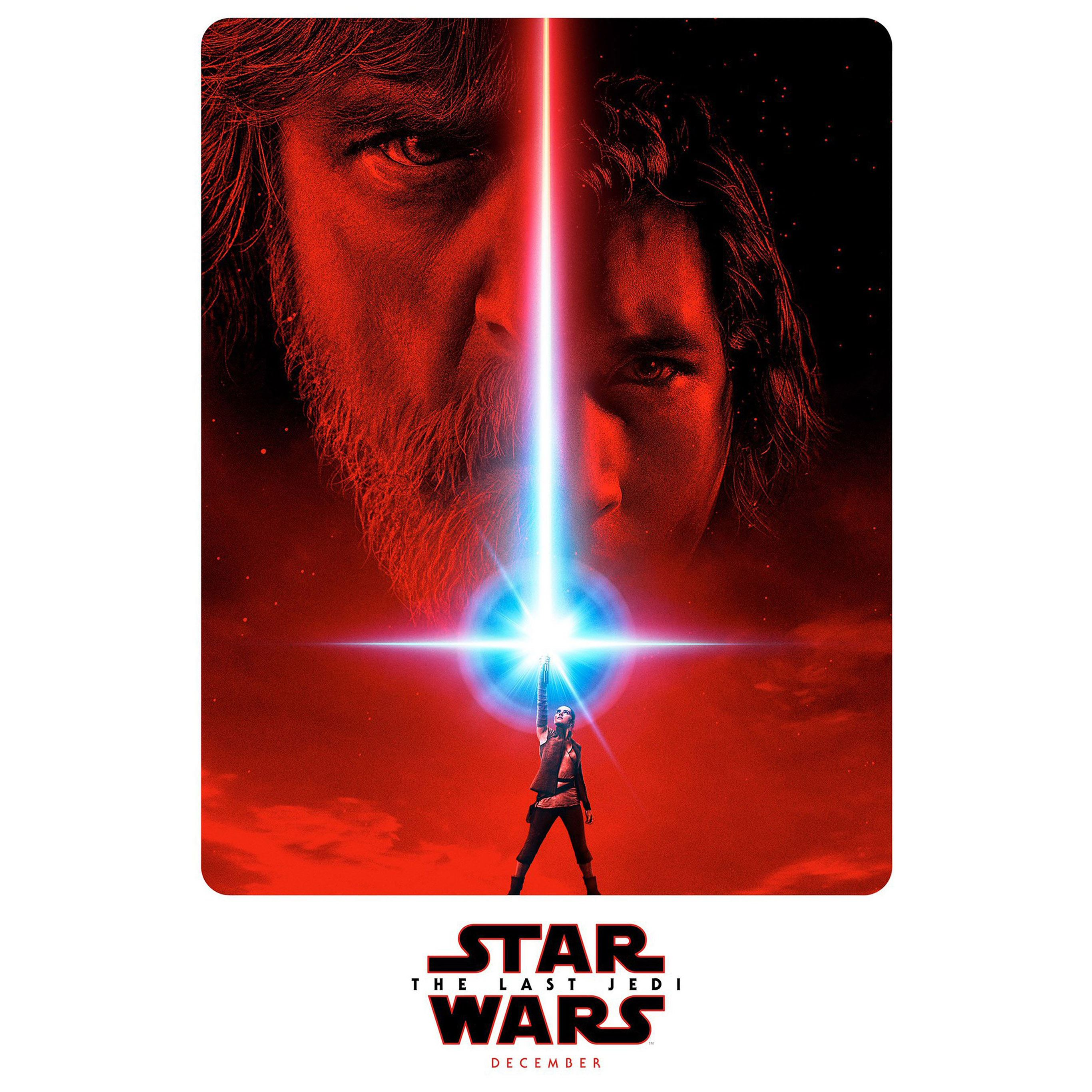 Last jedi starwars poster art illustration iPad Pro wallpaper