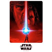 Last jedi starwars poster art illustration iPad wallpaper