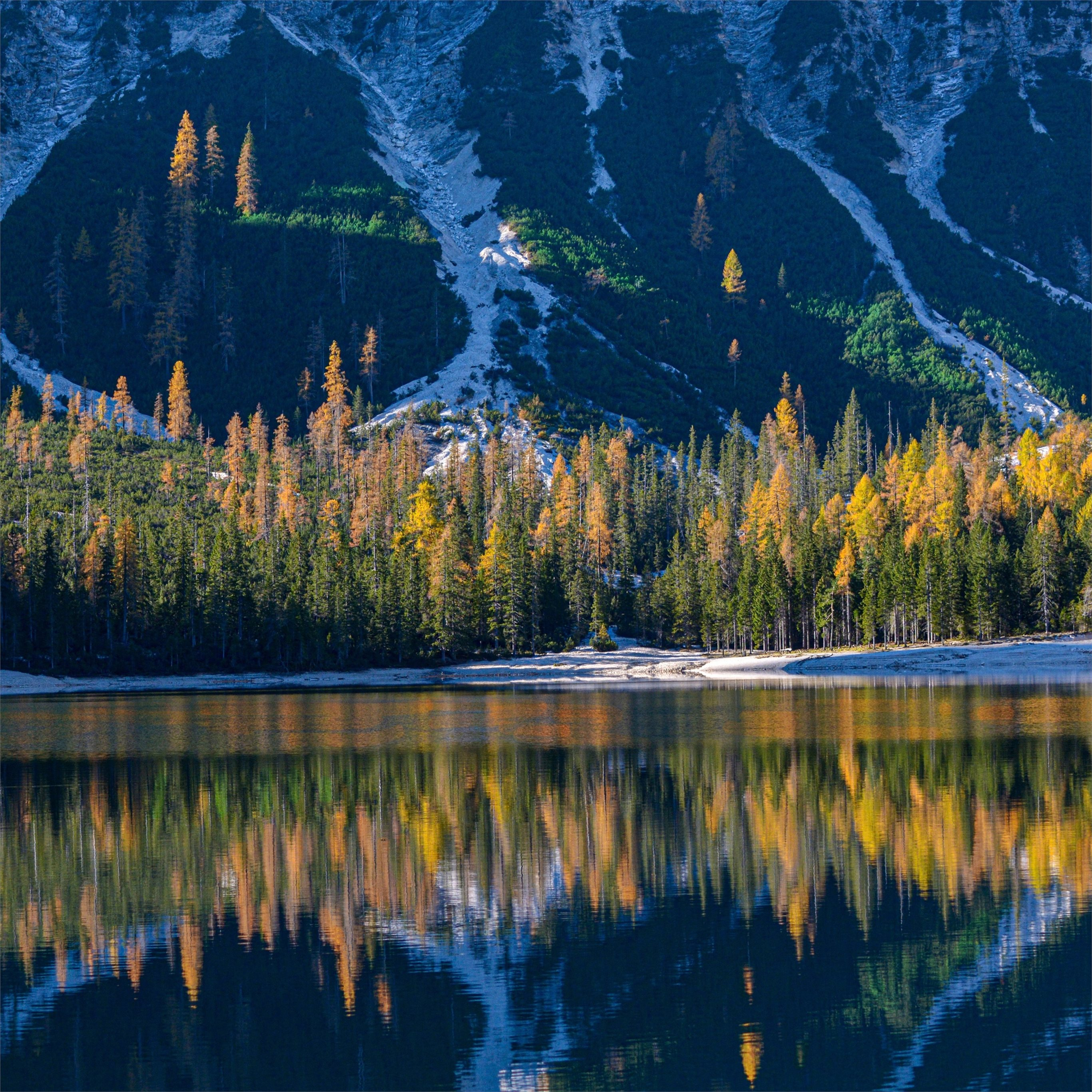 Mountains Lake Forests Italy South Tyrol 4k Ipad Pro Wallpapers Free Download