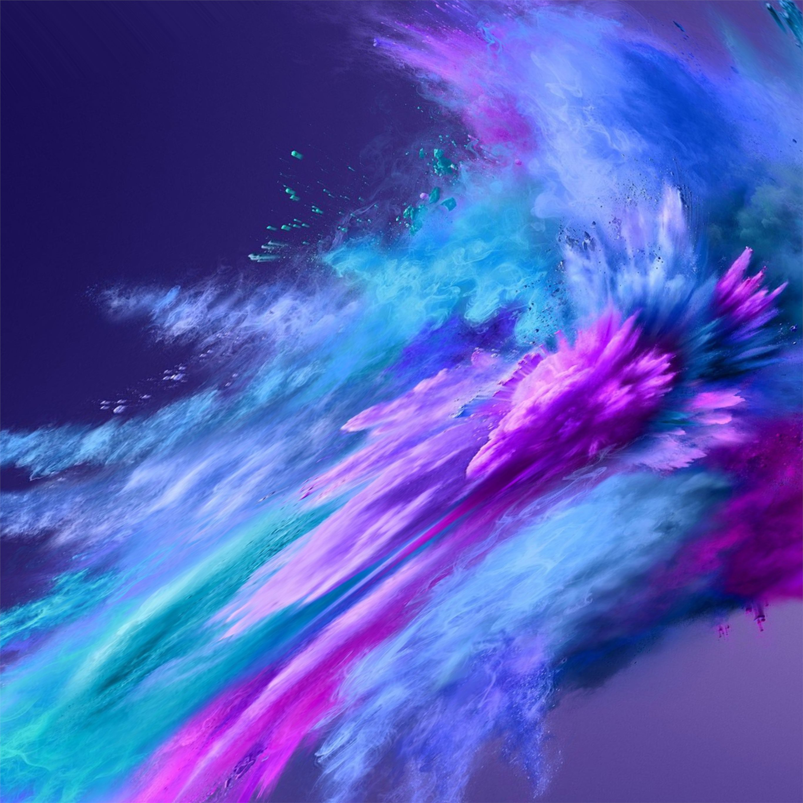 Color Powder Spray Abstract 4k IPad Pro Wallpapers Free