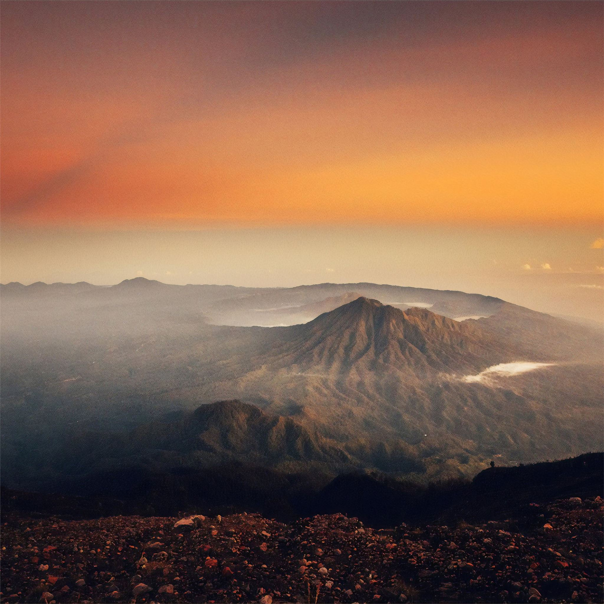 Volcano Sunset Landscape 4k Ipad Pro Wallpapers Free Download
