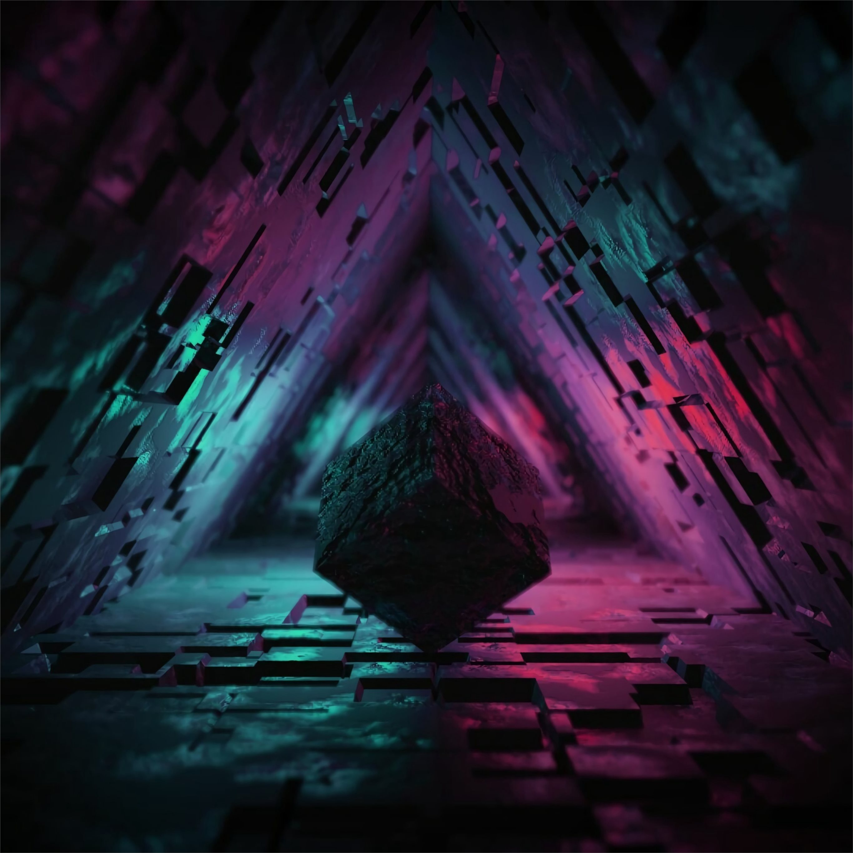 Digital Cave 3d Triangle 4k IPad Pro Wallpapers Free Download