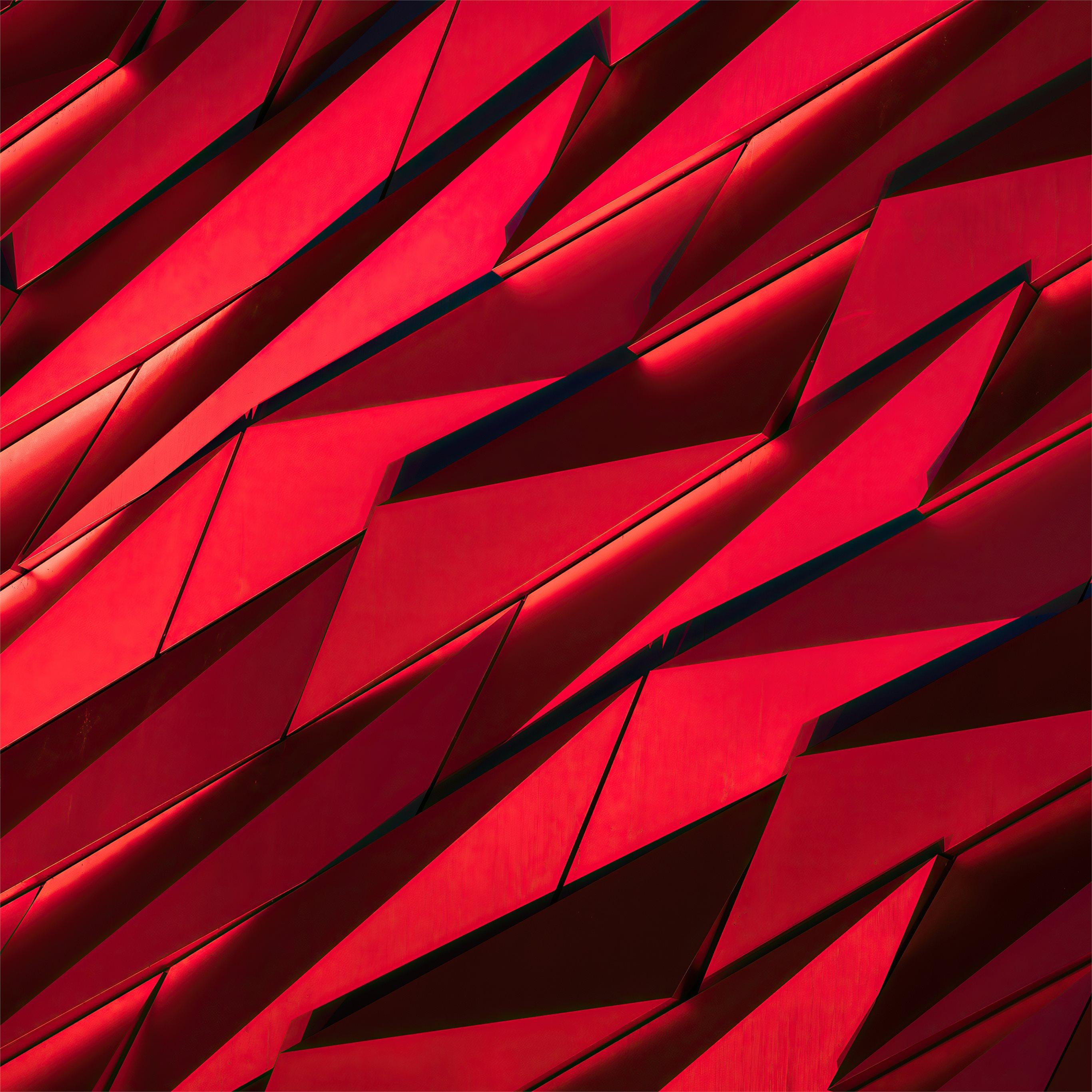 red sharp shapes texture 4k iPad ...