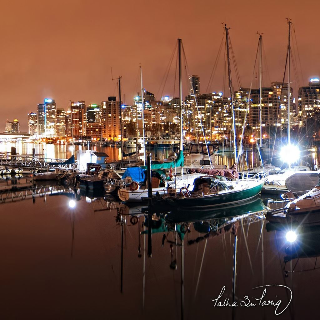 Vancouver Harbour: Vancouver Coal Harbour Nights IPad Wallpapers Free Download
