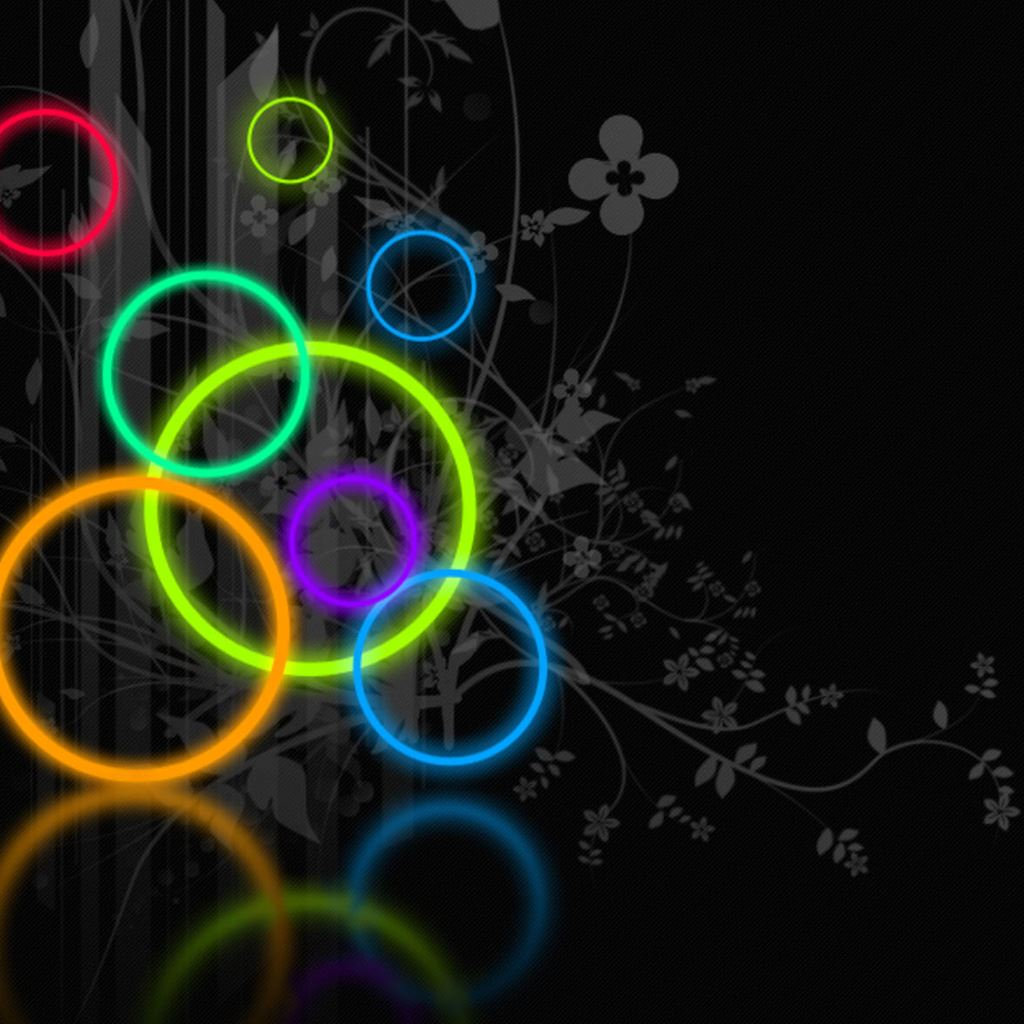 Abstract Colored Ring IPad Wallpapers Free Download