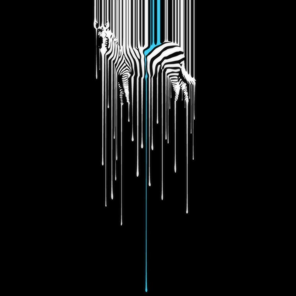 Zebra Melting Background iPad