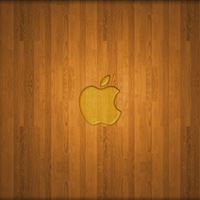 Wooden Apple Logo iPad wallpaper