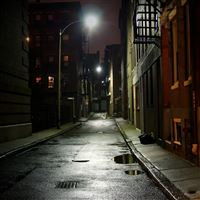 Dark Alley iPad wallpaper