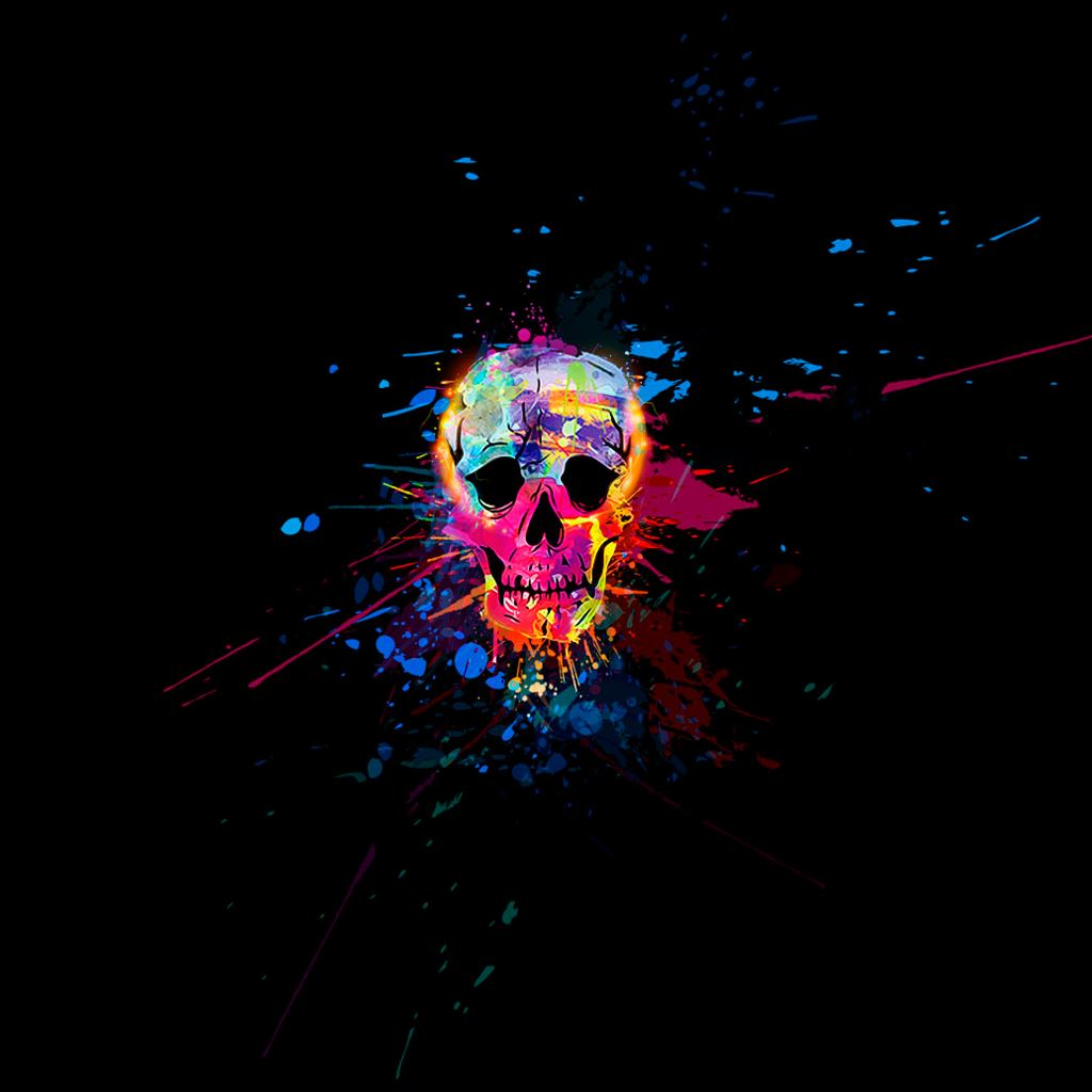 Colorful Iphone Wallpaper: Skull Colorful IPad Wallpaper Download