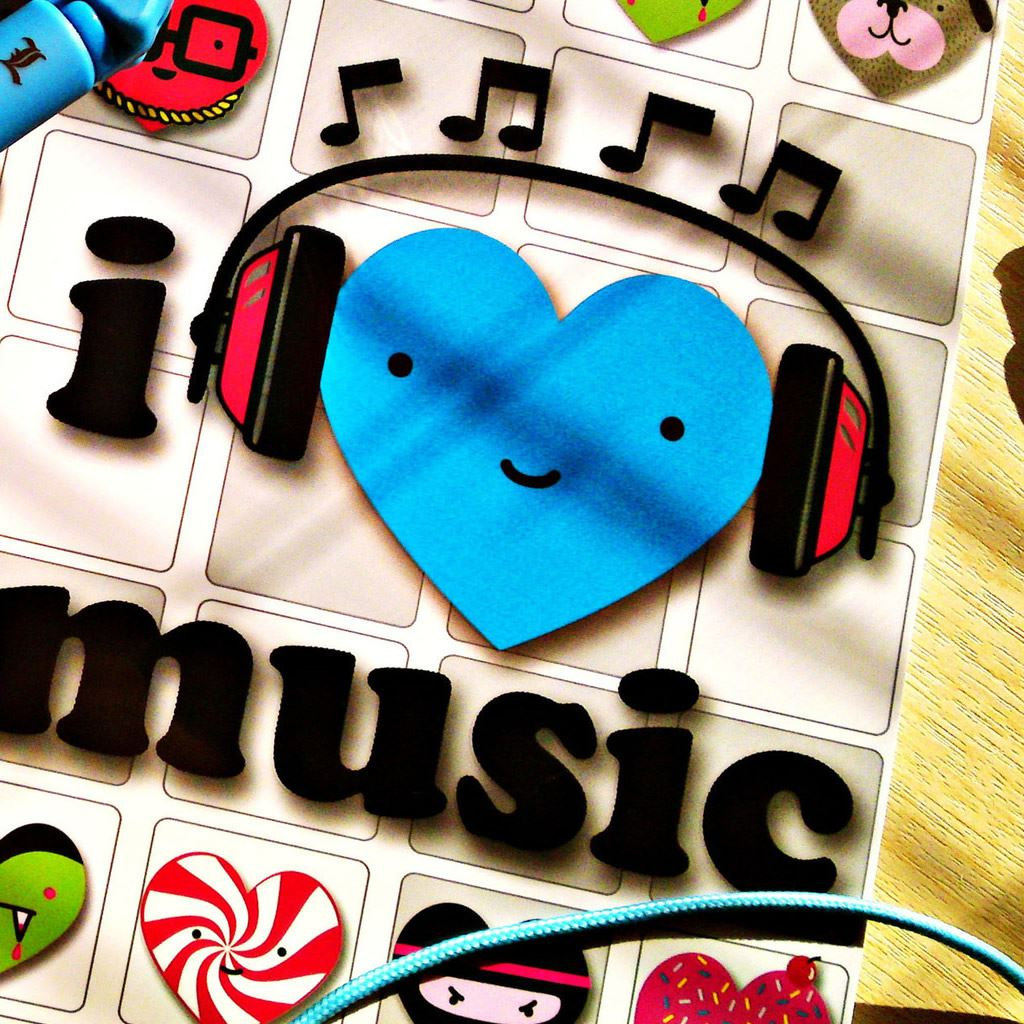 I Love Music iPad Wallpapers Free Download
