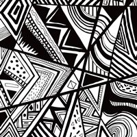 Black And White Doodle iPad wallpaper