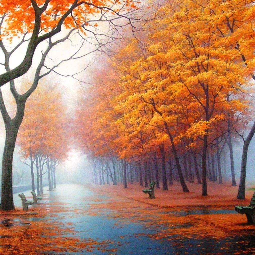 R Wallpaper Download: Autumn Road IPad Wallpaper Download