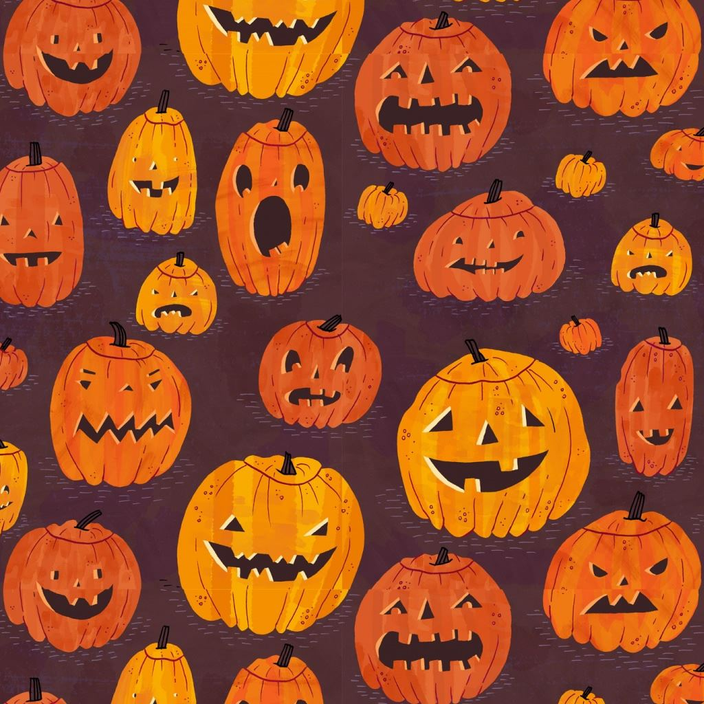 halloween pumpkins pattern ipad wallpaper download