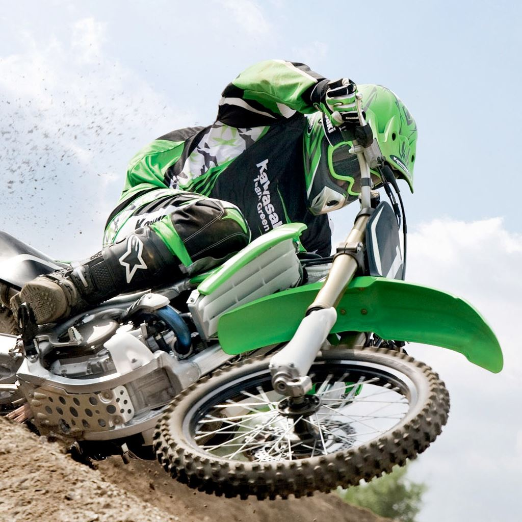Green Dirt Bike Ipad Wallpapers Free Download