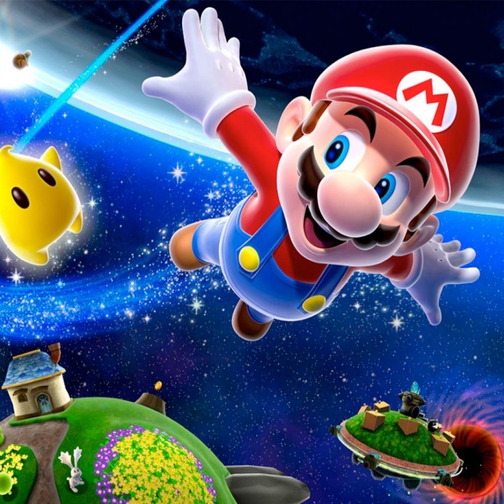 Super Mario Galaxy ipad wallpaper ilikewallpaper com