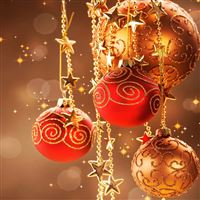 Christmas Decorations iPad wallpaper