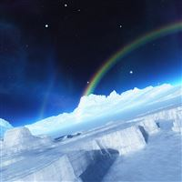Arctic Rainbow iPad wallpaper