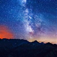 Milky Way Mountains iPad wallpaper
