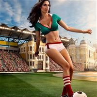 Sexy Football Girl iPad wallpaper