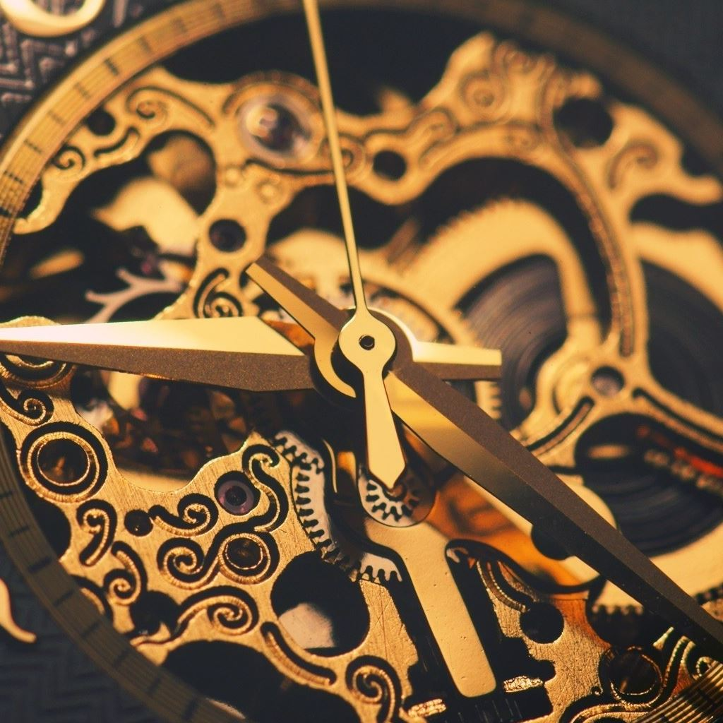 Watches Machinery Gear Gold iPad Wallpapers Free Download