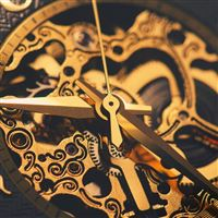 Watches Machinery Gear Gold iPad wallpaper