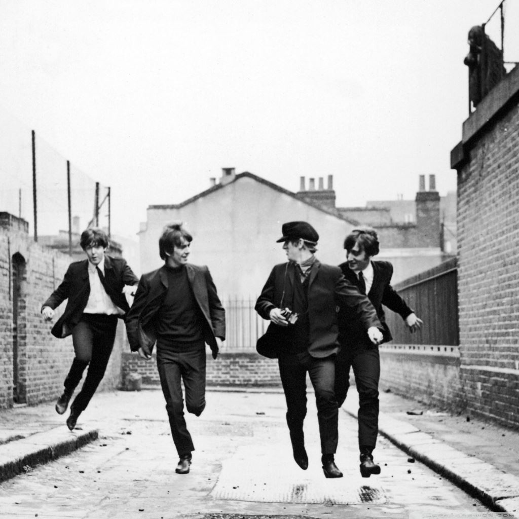 The Beatles Running Ipad Wallpapers Free Download