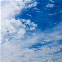 White Clouds On The Blue Sky Nature iPad wallpaper